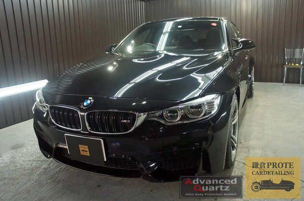 BMW ビーエムダブリュー F30 M3 アドバンストクオーツコーティング + ホイールコート